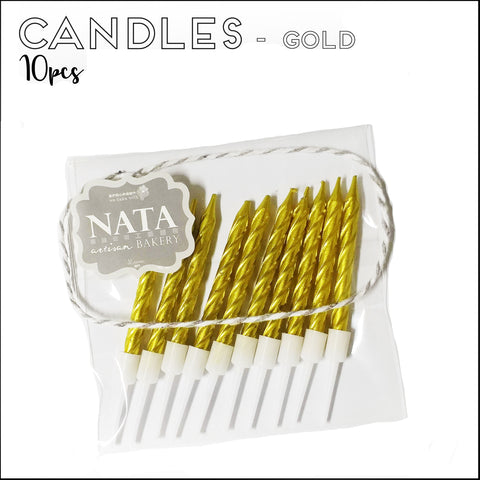 Candles - Gold (10pcs)