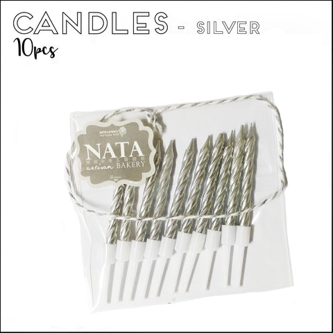 Candles - Silver (10pcs)