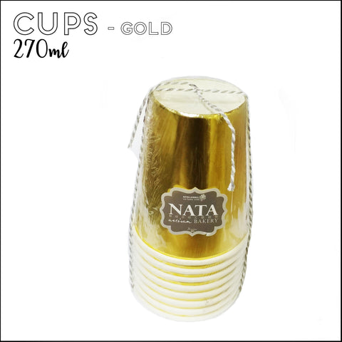 Cups - Gold (8pcs)