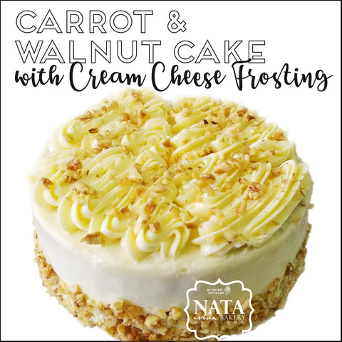 Carrot & Walnut Cake with Cream Cheese Frosting