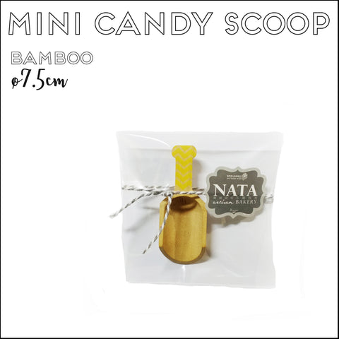 Cutlery - Mini Candy Scoop - Yellow Chevron (7.5cm)