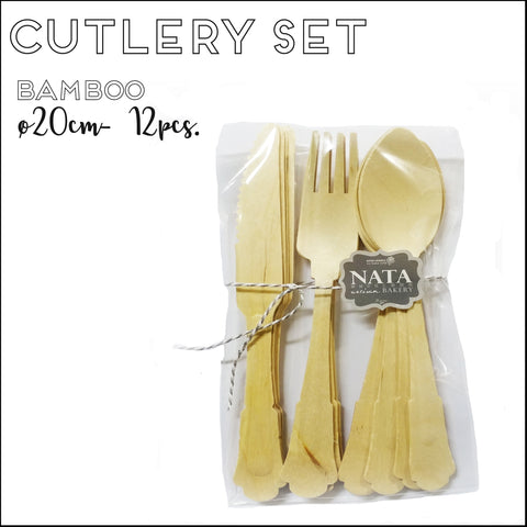 Cutlery - Fork, Knife & Spoon Fancy Set (12pcs)