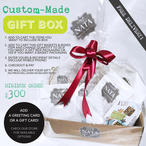 GIFT BASKETS & BOXES - Custom: Make Your Own - (ORDER 2 DAYS IN ADVANCE)