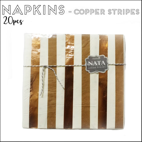 Napkins - Copper Stripes
