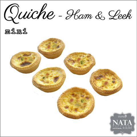 Mini Ham & Leek Quiche (6 pcs.)