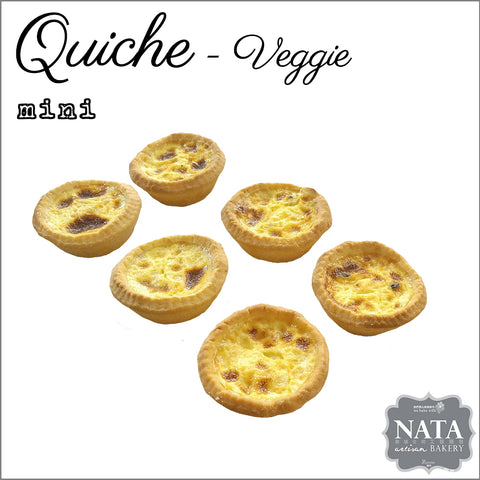 Mini Veggie Quiche (6 pcs.)