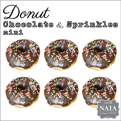 Mini Donut - Chocolate & Sprinkles (6 pcs.)