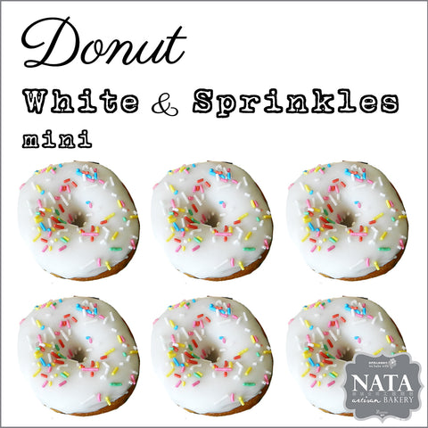 Mini Donut - White Icing & Sprinkles (6 pcs.)