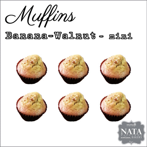 Mini Muffins - Banana Walnut (6pcs)