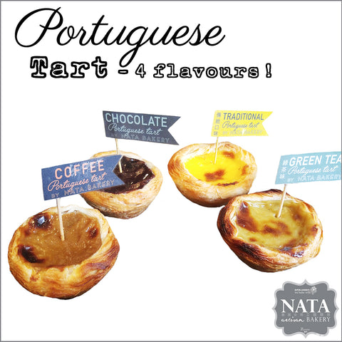 Portuguese Tart  - IN 4 FLAVOURS! OUR ORIGINAL RECIPE!