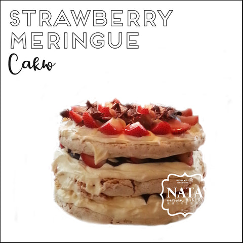 Cake - Strawberry meringue