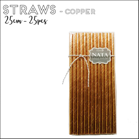 Paper Straws - Copper (25pcs)