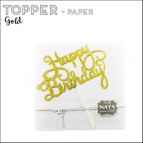 "Topper ""Happy Birthday"" - Gold - Paper"