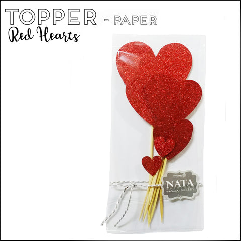 Topper - Red Hearts - Paper