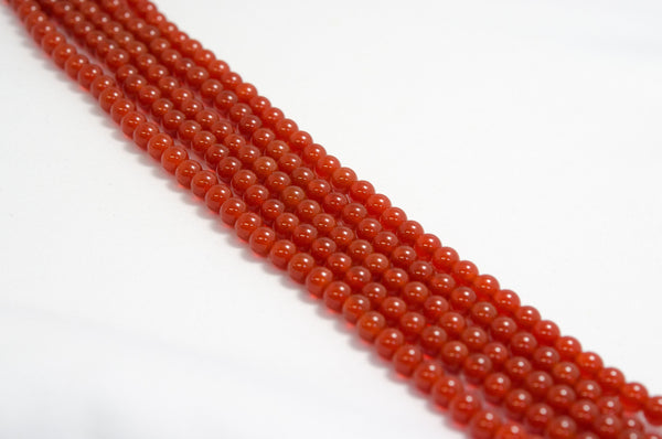 赤めのう 丸 6mm Red Agate Round 6mm