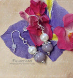 11ER-2 Flower Petal Earrings with One Sterling Silver Bead Cap ~ Custom Order ~ Order Form Required