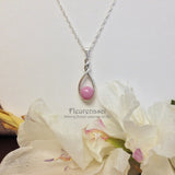 11P Flower Petal Bead Sterling Silver Drop Pendant with a Twist ~ Custom Order ~ Order Form Required