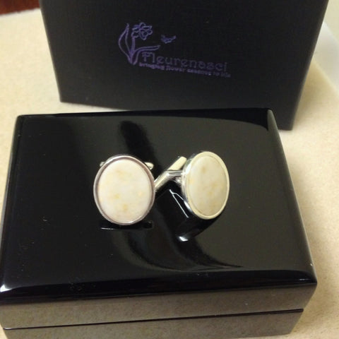 1MA Sterling Silver 16x12 Oval Cuff Links ~ Custom Order ~ Order Form Required