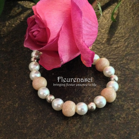 4BR Swarovski Pearl Bracelet with Four Flower Petal Beads ~ Custom Order ~ Order Form Required
