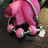 1FBG 11mm Flower Petal Bead with Sterling Silver Grommets ~ Custom Order ~ Order Form Required