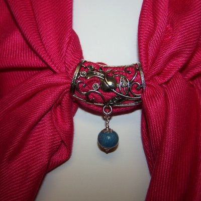 1IS-ST1 Scarf Tube Style D with One Flower Petal Bead~ Custom Order ~ Order Form Required