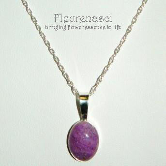 1P Flower Petal Bead Sterling Silver Oval Pendant  ~ Custom Order ~ Order Form Required
