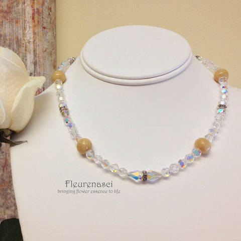 20N Flower Petal Bead Necklace with Swarovski Crystals ~ Custom Order ~ Order Form Required