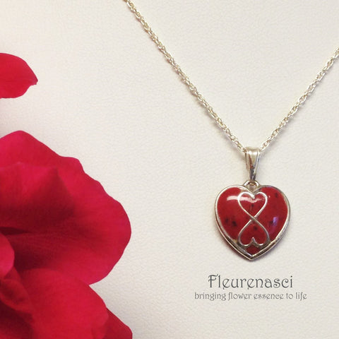 24N-S Flower Petal Bead Sterling Silver Infinity Heart Pendant ~ Custom Order ~ Order Form Required