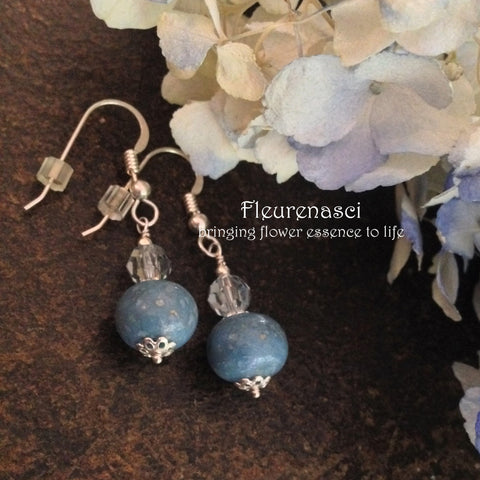3ER-IS-BH Flower Petal Earrings with Swarovski Crystals ~ In Stock Item
