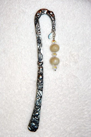 2SBM Dog Specialty Bookmark with Two Flower Petal Beads ~ Custom Order ~ Order Form Required