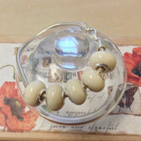 1FBG-IS-WA Flower Petal Bead 11mm with Sterling Silver Grommets