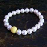19BR Swarovski Pearl Stretch Bracelet with One Flower Essence Bead ~ Custom Order ~ Order Form Required