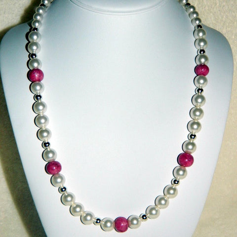 9N Five Flower Petal Bead Necklace with Swarovski Pearls ~ Custom Order ~ Order Form Required