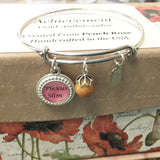 37BR-PA Adjustable Bangle Bracelet w/Plexus Charm ~ Custom Order Item