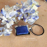 SBKC Stainless Steel Bezel Key Chain with Flower Petal Bead ~ Custom Order ~ Order Form Required