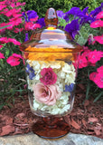 "A-TTAL Preserved Flowers ~ 10"" x 5"" Glass Apothecary Jar Display"