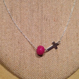 1N-BC Flower Bead Sterling Silver Cross Necklace ~ Custom Order ~ Order Form Required