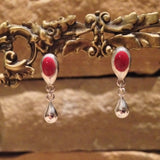 13ER-T Sterling Silver Bezel Post Earrings with Tear Drops ~ Custom Order ~ Order Form Required