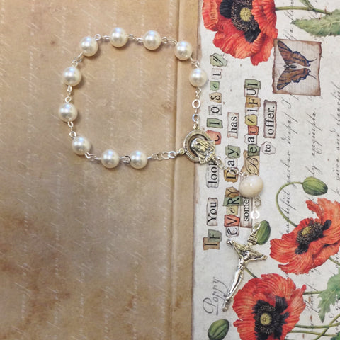 1CH-L Flower Petal Chaplet Linked Sterling Silver ~ Custom Order ~ Order Form Required