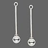 "Add A Bead Sterling Silver 1-1/2"" Drop Pins with 6mm Removable Ball End ~ Custom Order ~ Order Form Required"