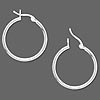 Add A Bead Sterling Silver Latchback Hoop Earrings ~ Custom Order ~ Order Form Required