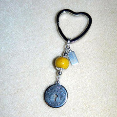 HKCU2 Heart Key Chain 1 Bead With Affirmation Charm ~ Custom Order ~ Order Form Required