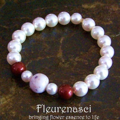 20BR Swarovski Pearl Stretch Bracelet with One Flower Essence Bead ~ Custom Order ~ Order Form Required