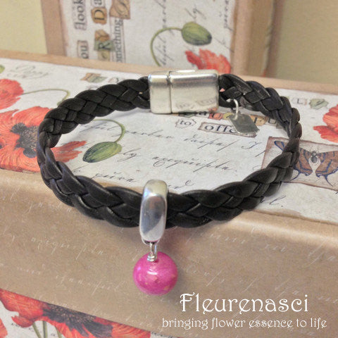 33BR Flower Bead Arizona Leather Braided Bracelet ~ Custom Order ~ Order Form Required