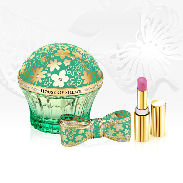 Whispers of Guidance Parfum & Bow Lipstick Duo Set ($620 Value)