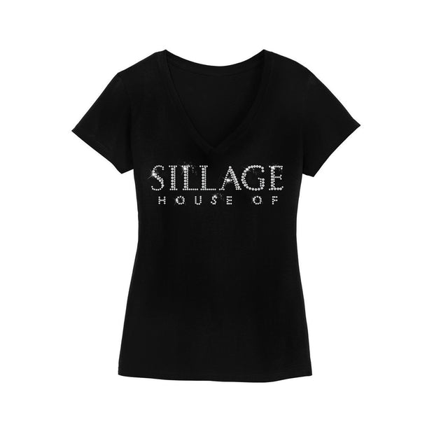 Women's Crystal Shirt-Black