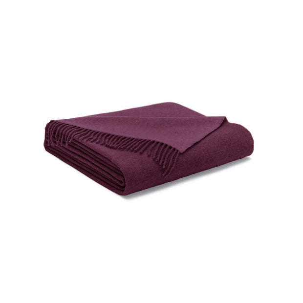 House Of Sillage Cashmere Throw Blanket - Bordeaux