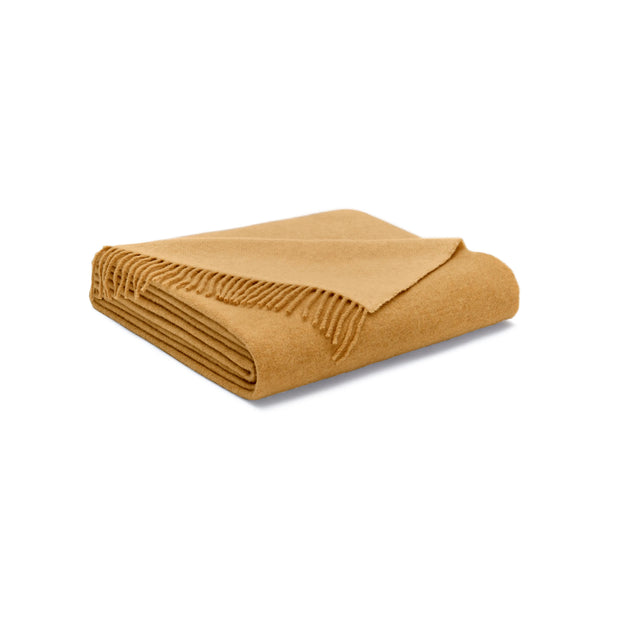 House Of Sillage Cashmere Throw Blanket - Canary Yellow