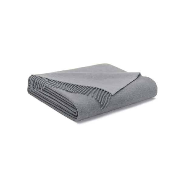 House Of Sillage Cashmere Throw Blanket - Grey
