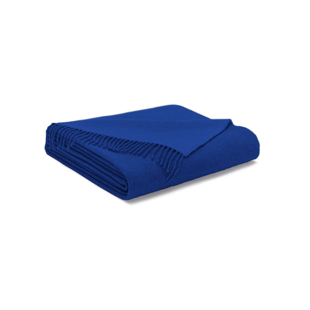 House Of Sillage Cashmere Throw Blanket - Royal Blue